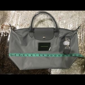Authentic Longchamp Gray Medium Crossbody Bag